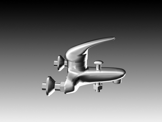 Sink Tap Modell : Wall mounted sink tap d model dsmax ds autocad files free