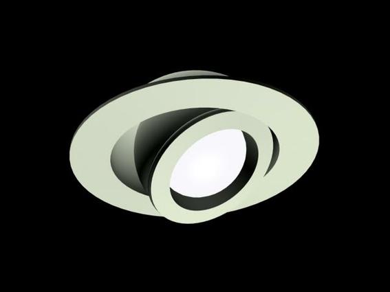 Recessed Spotlight Fixture 3d Model 3dsmax 3ds Files Free