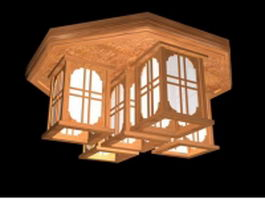 Chinese ceiling lights 3d model