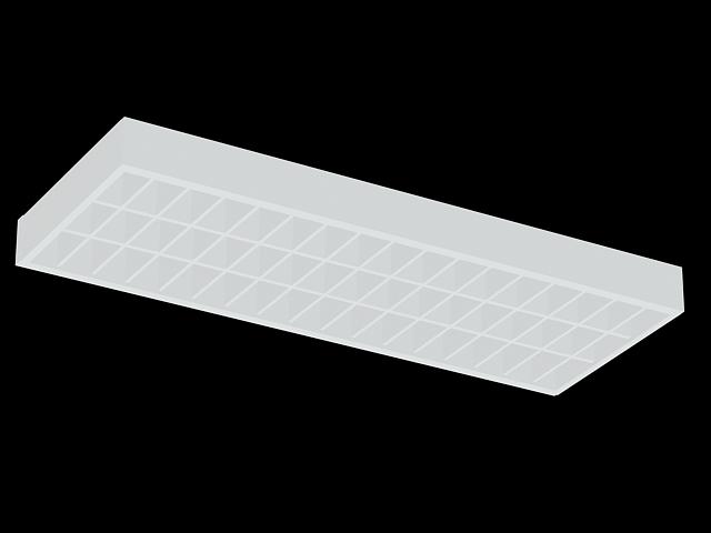 Fluorescent Light Fixtures Ceiling Grid 3d Model 3dsmax