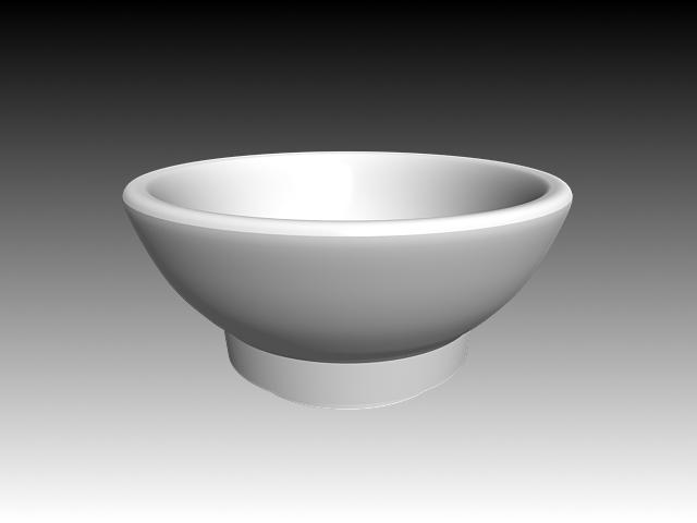 Standing Bowl Vessel Sink 3d Model 3dsmax 3ds Autocad