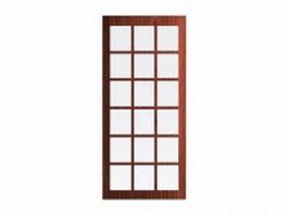 Glass interior door inserts 3d model