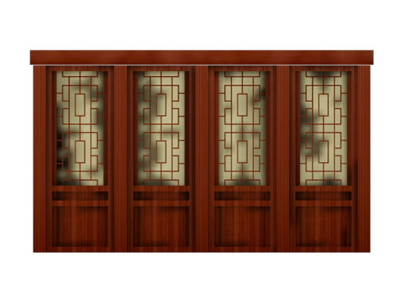 Antique Interior Partition Doors 3d Model 3dsmax 3ds Files