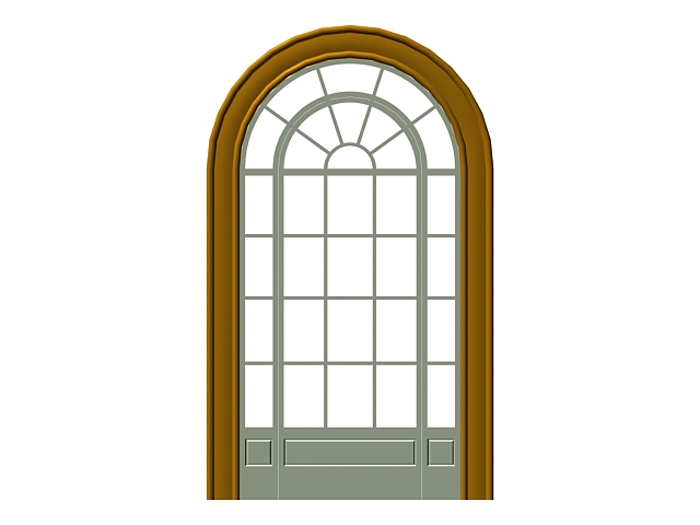Interior Arched French Doors 3d Model 3dsMax,3ds Files