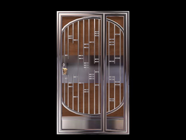stainless steel security door 3d model 3dsmax files free