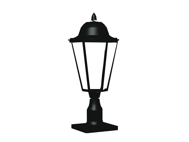 Antique Cast Iron Garden Lamp 3d Model