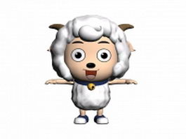 Cartoon sheep character 3d model