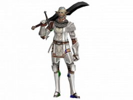 Swordsman character 3d model