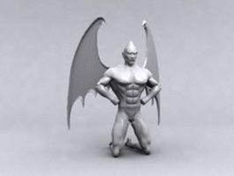 Winged demon 3d model