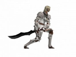 Silver knight 3d model