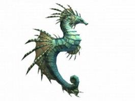 WOW seahorse mount 3d model
