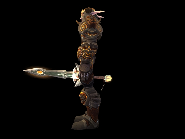 wow   male night elf warrior 3d model 3dsmax files free