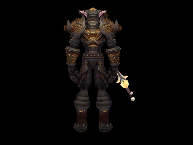 wow   male night elf warrior 3d model 3dsmax files free