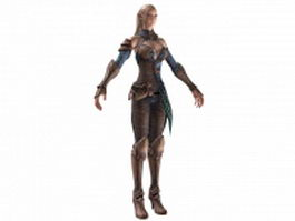 High Elf female warrior 3d model