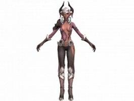 TERA - castanic female warrior 3d model