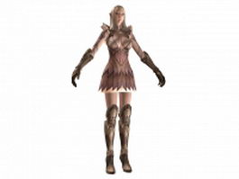TERA - high elf female armor 3d model