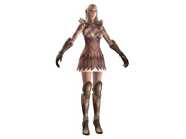 TERA - high elf female armor 3d model - CadNav