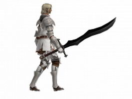 Walking medieval knight 3d model