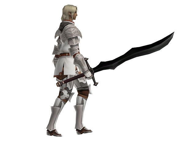 Walking Medieval Knight 3d Model 3dsmax Files Free