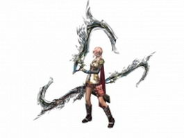 Dissidia Final Fantasy - Warrior of Light 3d model