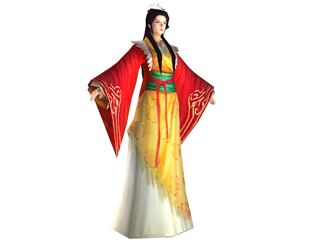 Ancient Chinese Female Character 3d Model 3dsmax Files