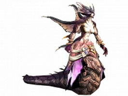 Naga female character 3d model