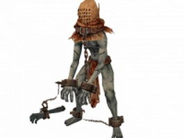 Zombie character design 3d model