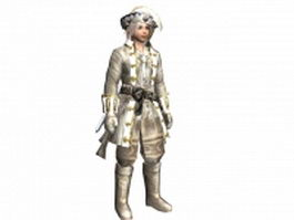 Medieval sea captain 3d model