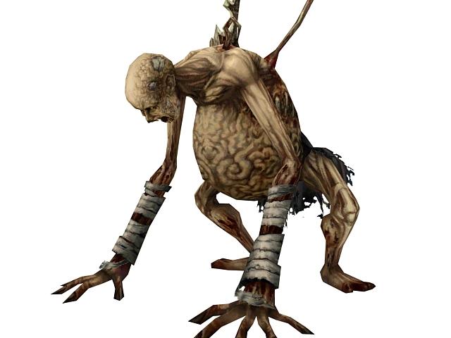 Mosnter Zombie Skeleton 3d Model 3dsmax Files Free