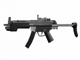 HK MP5 9mm submachine gun 3d model