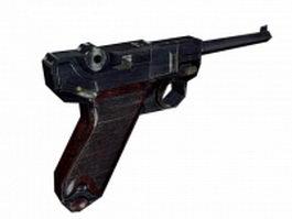 Mauser Luger pistol 3d model