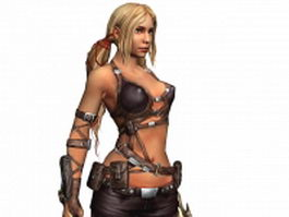 Female treasure hunter Ayumi in Blades of Time 3d model
