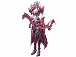 Fantasy female elf archer concept 3d model