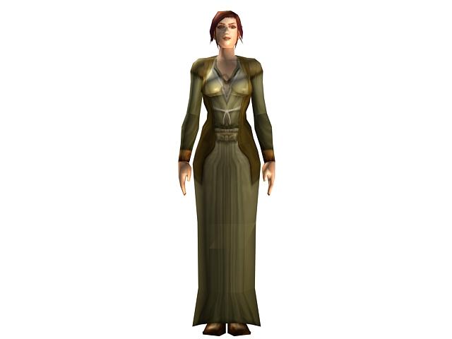 Character Concept Design Maya And Vray : Human female character concept d model dsmax maya files