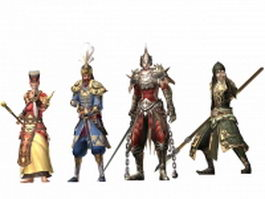 Atlantica online male characters collection 3d model