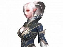 Female kamael concept 3d model