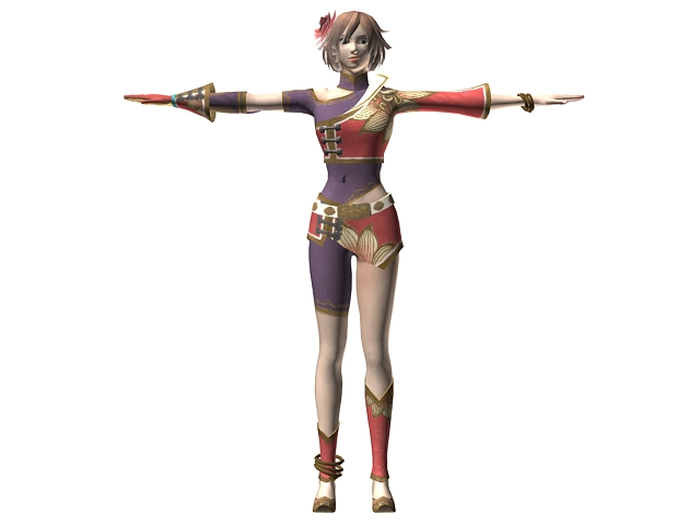 Dynasty Warriors 7 Female Character 3d Model 3dsMax Files