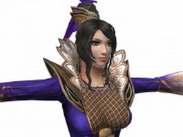 Dynasty warriors 7 - women warrior Zhen Ji 3d model