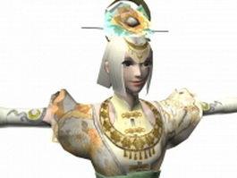 Dynasty warriors 7 - Ancient women poet Cai Wenji 3d model