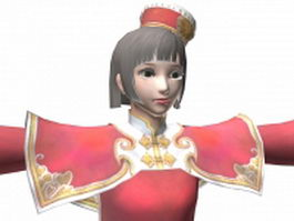 Dynasty warriors 7 - Ancient beauty Da Qiao 3d model