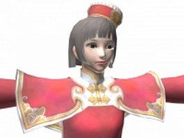 Dynasty warriors 7 - Ancient beauty Da Qiao 3d model