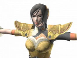 Dynasty warriors 7 - Xingcai 3d model