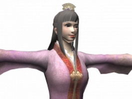Chinese ancient girl 3d model