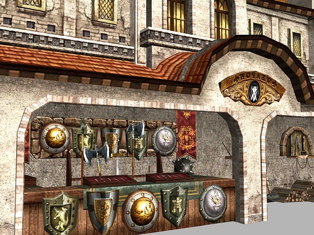 Fantasy Building Weapon And Armor Shop 3d Model 3dsmax