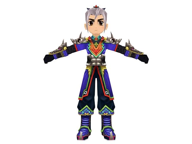 Anime Swordsman Character 3d Model 3dsmax Files Free Download