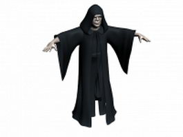 Star wars character Emperor Palpatine 3d model