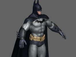 Batman character design 3d model