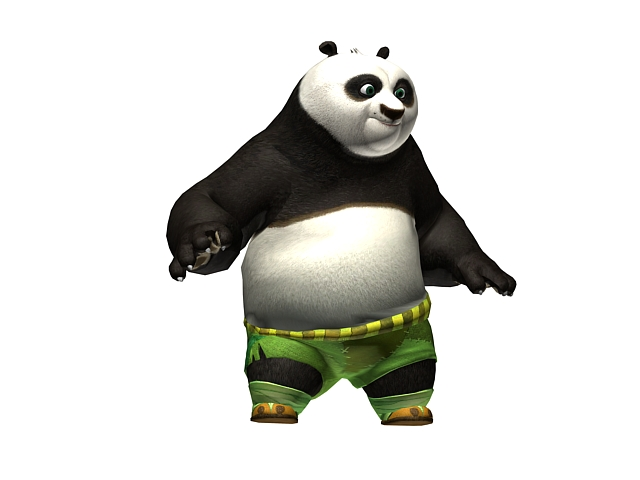 Kung Fu Panda Characters Collection 3d Model 3dsmax Files