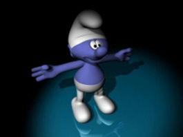 Comic character Smurfs 3d model