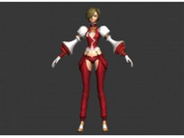 Fantasy girl character concept 3d model
